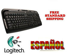 NEW Logitech LX310 SPANISH Cordless Desktop USB Laser Mouse Wireless Keyboard