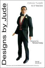 Classic Tuxedo Doll Clothes Sewing  Pattern for Matt Rufus Sean , Tonner