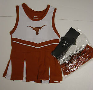 NEW Infant Toddler Youth Girls Nike U of Texas Cheerleader Cheer Outfit Bloomers