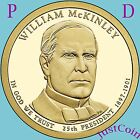 2013 P&D WILLIAM McKINLEY GOLDEN PRESIDENTIAL DOLLARS SET FROM UNCIRCULATED ROLL