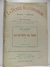 Revue LA PETITE ILLUSTRATION le Démon de Midi 4 Paul Bourget roman théatre 1914