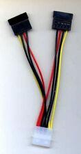 One Male Molex to 2 Female SATA Splitter Extension Cable