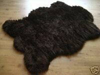 CLASSIC BROWN BEAR BEARSKIN FAUX FUR RUG 3x5 NEW! - NEW from France