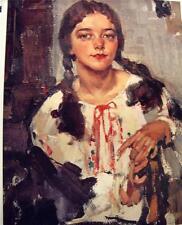 Nicolai  Fechin   Russian American Art Print of His Daughter Eya  New Condition