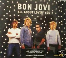 Bon Jovi All About ACOUSTIC & DEMO & VIDEO UK CD Single