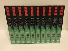New RCA Blank VHS Cassette Tapes 10-Pack T120 6-Hour SP LP SLP Factory Sealed