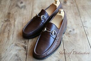 Men's Classic Gucci Brown Leather Bit Loafers Shoes UK 9 US 10 EU 43