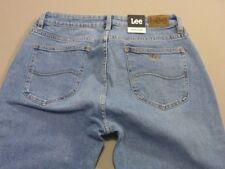 098 WOMENS NWT LEE SKINNY STR8 GARAGE BLUE STRETCH JEANS SZE 14 $160 RRP.