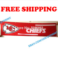 Kansas City Chiefs Banner Flag 2x8 ft 2020 NFL Fan Club Wall Home Decor NEW
