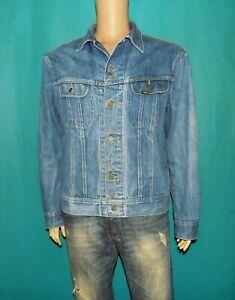 veste en jean LEE riders vintage made Belgium en coton bleu délavé taille 46