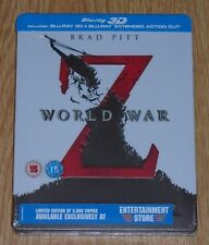 World War Z 3D & includes 2D (blu-ray) Steelbook. NEW and SEALED (UK release)