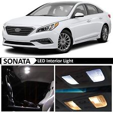 14x White Interior LED Lights Package for 2011-2015 Sonata w/Sunroof + TOOL