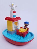 Lego Duplo Eisenbahn ++ Fischerboot mit Figuren und Zubehör++ aus 10875  NEU