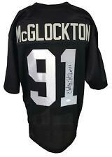 Chester McGlockton Autographed Pro Style Black Jersey JSA Authenticated