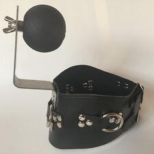 Slave Fetish Bondage Adjustable Posture Neck Collar Corset Collar & Gag n-2021