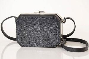 VBH Jazz black leather stingray first edition crossbody handbag purse NEW $2800