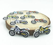 25X Wooden motorcycle Buttons Mix color Fit sewing Handicrafts Scrapbooking 32mm