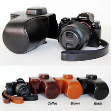Leather Camera case bag Cover For Sony Alpha A7S II, A7 II, A7R II, 24-7mm 28-70