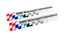 PAIR of BMW M3 LTW Door Moulding Motorsport Emblem Badge 51132264146