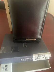 Men's Colorado RFID tri-fold wallet