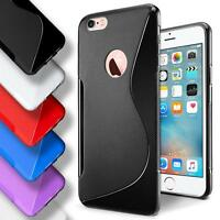 Apple iPhone 6 6s Silicone Gel S Line Case Cover Ultra Thin Slim Back Bumper