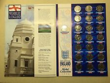 Official England 1996 squad Coin Collection complete set. on presentation board