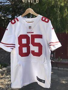 Men's San Francisco 49ers Vernon Davis Authentic Nike Elite White Jersey NWT