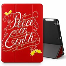 iPad 9.7 2017 Tablet Case,Poetic® Stand Folio Slim Leather Cover Peace on Earth