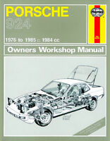Porsche 924 & Turbo Reparaturanleitung workshop repair manual Buch book Handbuch