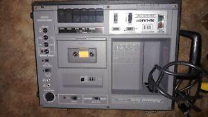 SHARP heavy duty Professional Series Portable Cassette Recorder RD-685AV