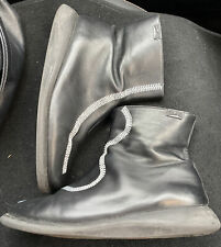 Black Soft Leather Flat Ankle Camper Boots Size 7 / 40