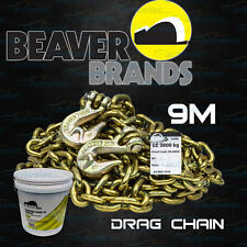 BEAVER G70 DRAG CHAIN 9 METRE X 8MM 8000KG RECOVERY TOW WINCH 4WD 4X4 GRAB HOOKS