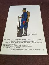 Card Rene North B 43 Turkish Artillery No 6