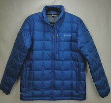 Columbia Mens 700 Down Fill Insulated Puffer Jacket Coat Medium M Blue Quilted