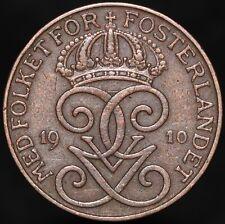 More details for 1910   sweden gustaf v 2 ore   bronze   coins   km coins