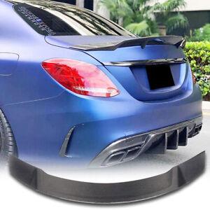 Carbon Fiber Rear Trunk Lip Spoiler Wing For Mercedes W205 C43 C63 Sedan 2014-19