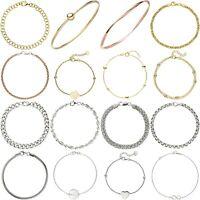 Damen Armbänder Armreif ECHT 925 Silber Gelbgold Rosegold vergoldet Zirkonia
