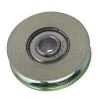 4pcs 5x25.5x8.8mm Steel Ball Bearing U-Type Groove Door Pulley Sliding Roller