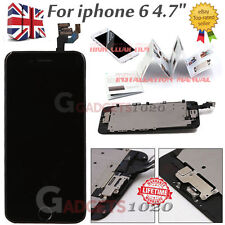 "For iPhone 6 4.7"" LCD Replacement Digitizer Touch Screen With Home Button Black"