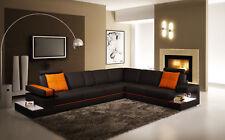 Moderne Salon Canapé D'Angle en Cuir avec Éclairage Canapés