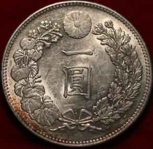1895 Yr 28 Japan One Yen Silver Foreign Coin