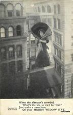 C-1910 Merry Widow Elevator Crowded Parachute postcard Grollman 10268
