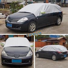 Car Cover Sunscreen UV Snow Dust Rain Resistant half body Gray Non Waterproof