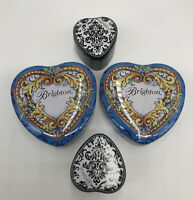 Lot Of 4 BRIGHTON Tin Hearts W/Lid