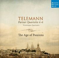 THE AGE OF PASSIONS - PARISER QUARTETTE 4-6  CD NEW+ TELEMANN,GEORG PHILIPP