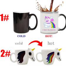 Novelty Unicorn Heat Colour Changing Mug Ceramic Sensitive Magic Coffee Tea Cup