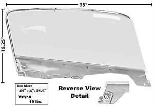 1965-66 Ford Mustang Fastback Door Glass Kit w/Window Frame & Glass -LH