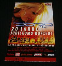 "DORO SAXON 2003 GERMAN ROCK HARD MAGAZINE GIG AD 4.5"" X 7"" HTF OOP NWOBHM RARE!!"