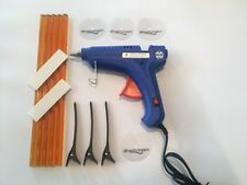 LARGE! Hair Extension Glue Gun,5 Sticks, Finger Pads, Section Clips,Hair Disks