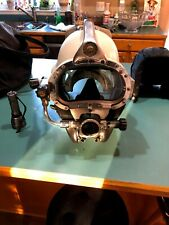 Kirby Morgan 57 Dive Helmet: Pearl, SuperFlow 450, Bailout, SpyderCo (New)